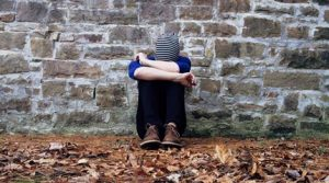 Boy struggling with being bullied