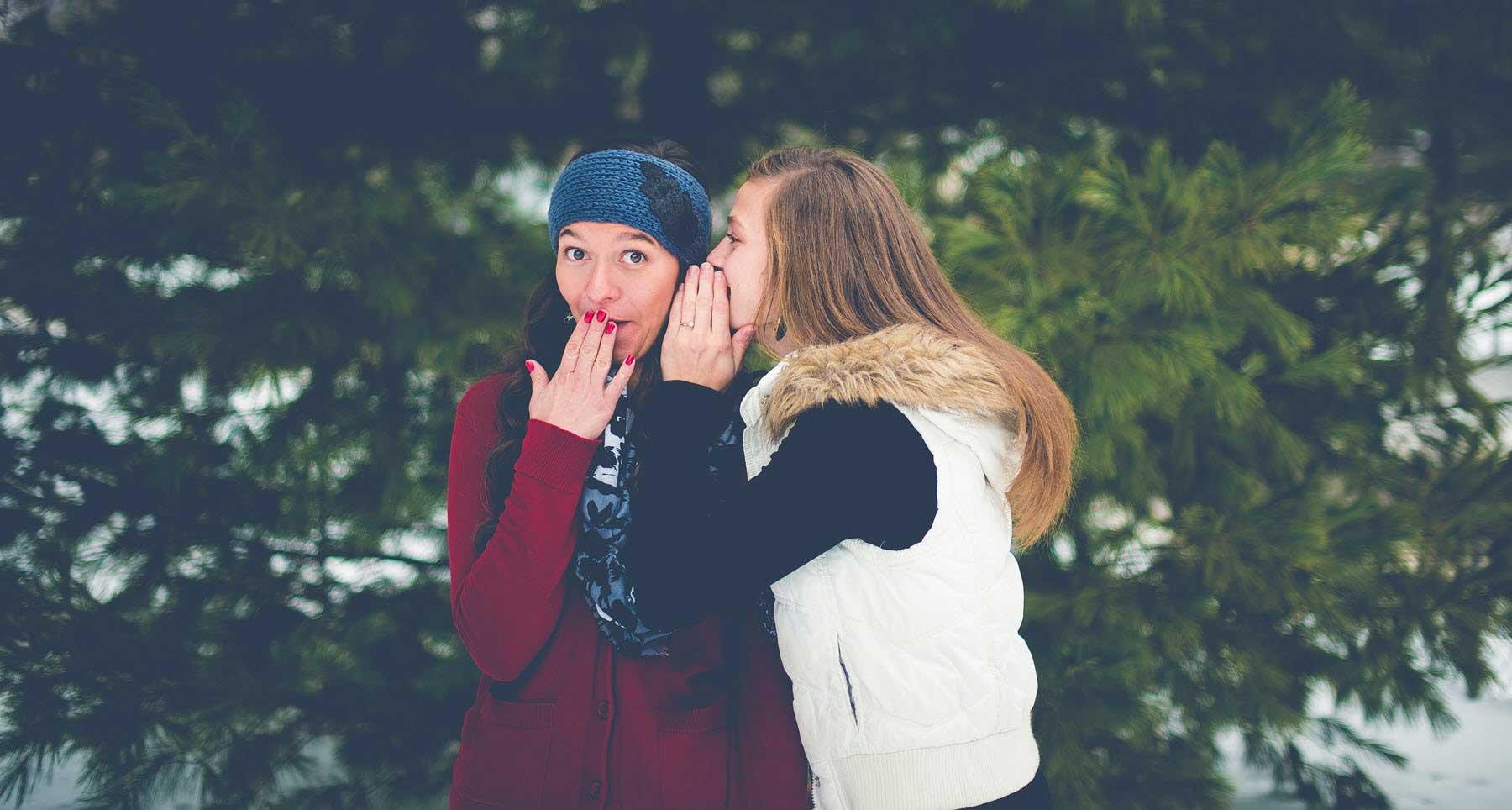 two girls spreading rumors and gossip bad reputation the danger of gossip
