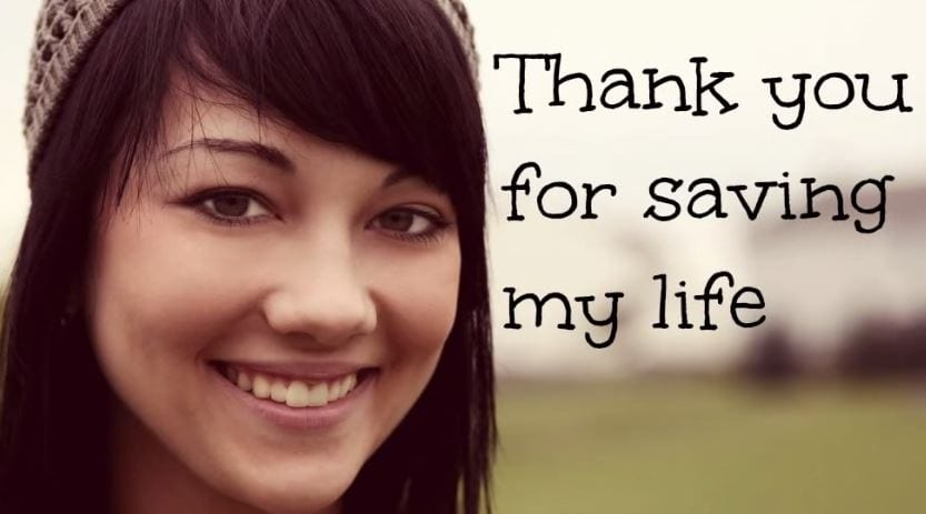 Thank you for saving my life! [Video]