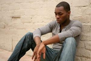 Man struggling with mental illness