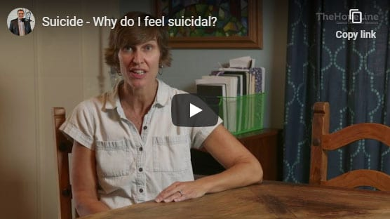 Suicide – Why do I feel suicidal?