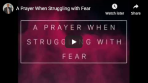 prayer for fears TheHopeLine Support