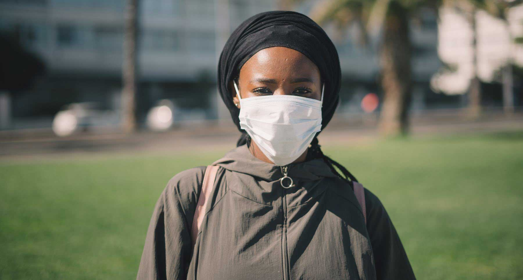 Black-teen-female-wearing-a-mask-Are-More-People-Depressed-During-the-COVID-19-Pandemic-TheHopeLine