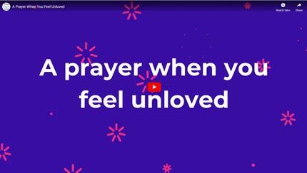 A Prayer When You Feel Unloved A Prayer to Pray When You Feel Unloved Rachel Cardinal