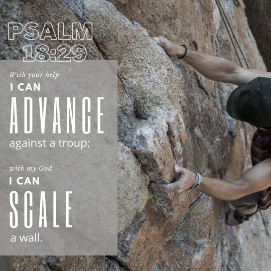 """""""With your help I can advance against a troop; with my God I can scale a wall."""""""